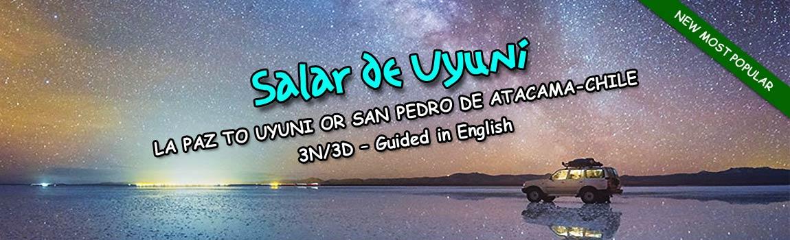 Uyuni Salt Flats – Start in La Paz and finish in Uyuni City or San Pedro de Atacama Chile 3N/3D